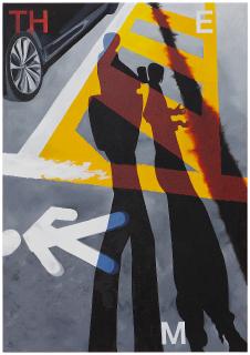 Walk along (THE M) 2021, Öl auf Leinwand, 100 x 70 cm