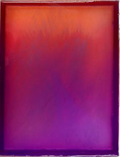 Julia Burek, o.T., 2020, Pigment und Epoxidharz, 26 x 20 cm