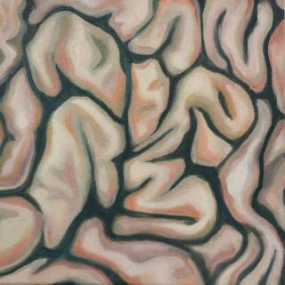 O.T., Serie 1/2, 2021, oil on canvas, 25x25cm